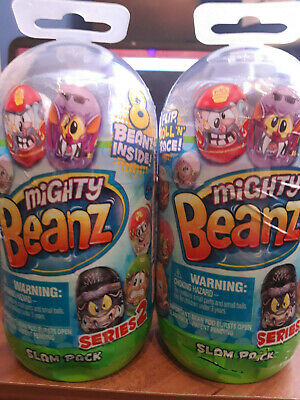Mighty Beanz Slam Pack - Recieve Two Sets With 8 Beanz Each - Series 2 - New • 12.99£
