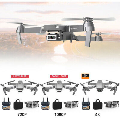 E68 WIFI FPV Video 2.4GHz RC Drone Rechargeable Folding Quadcopter Altitude Hold • 28.99£