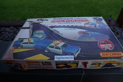 Matchbox Race And Chase Powertrack Slot Car Set Incomplete Spares Or Repairs • 19.99£
