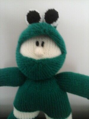 Stuffed Toy, Reptile Boy, Hand Knitted 10  High. • 4.50£