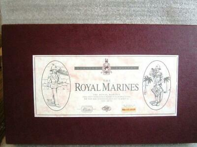 # 5289 BRITAINS 10 Piece SET- THE ROYAL MARINES  MINT/BOXED + CERTIFICATE • 29.50£