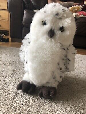 Large Living Nature Snowy Owl Hedwig VGC Plush Soft Toy • 7£