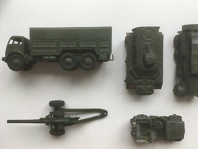 Collection 5 Vintage Dinky Toys Army Military Vehicles • 11.05£
