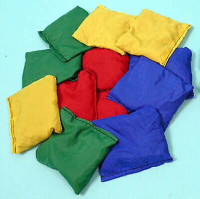 12 Pack Sports Bean Bags Throwing Catching Play PE Garden Games Juggling Ball • 7.99£