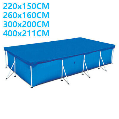 Rectangle Swimming Pool Cover For Paddling Garden Bestway Intex Swimming Pools • 23.99£