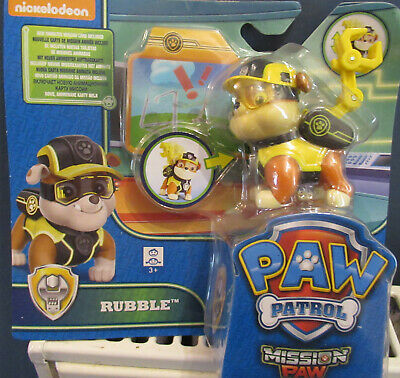 Paw Patrol Rubble Mission Paw Figure Set - New • 16.99£
