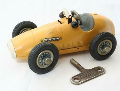 Vintage Schuco 1070 Grand Prix Racer In Yellow With Key - Working Order • 0.99£