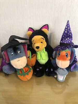 Disney Store Exclusive Halloween Winnie Pooh And Eeyore Plush Rare With Tags • 7.50£