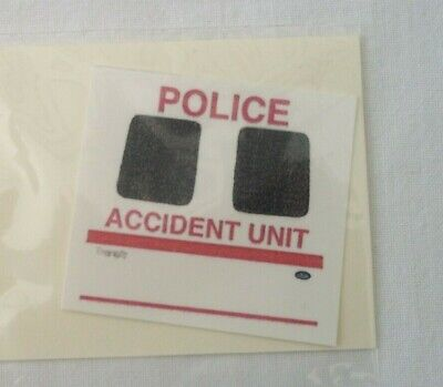 No 104 Police Chevron For Ford Transit Code 3 Clear Waterslide Decals • 2.30£