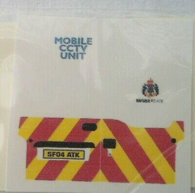 No 270 Police Chevron For Ford Transit Connect Code 3 Clear Waterslide Decals • 2.30£