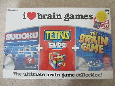 I Love Brain Games 4 Game Pack Brand New Sealed  • 3£
