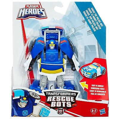 Playskool Heroes Transformers Rescue Bots Chase The Police-Bot (B3487) • 11.99£