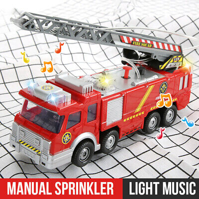 Toys For Kids Fire Engine Truck Toy With Light Sound Fire Safety Cars Gift UK • 10.99£