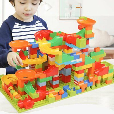 165pcs Small Size Marble Run Set Puzzle Maze Race Track Game Toy Building Block • 11.99£