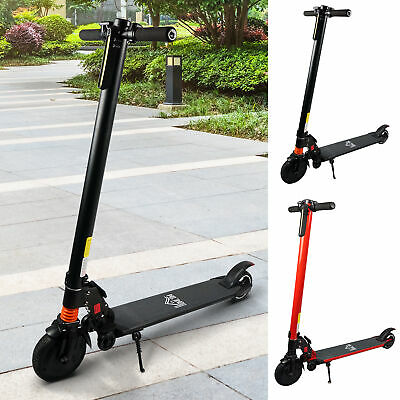 Electric Scooter Folding Adjustable Speed W/ Light Black/Red • 204.99£