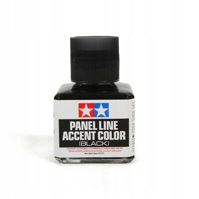40ml TAMIYA PANEL LINE ACCENT COLOR BLACK For PlasticModel Kits #87131 • 6.99£