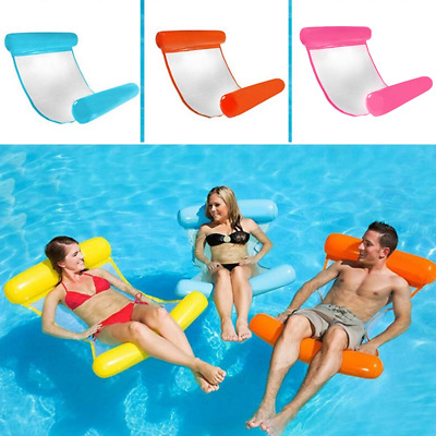 Inflatable Floating Water Hammock Float Pool Lounge Bed Swimming Chair Bed UK • 6.95£