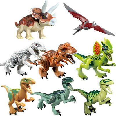 New Large Dinosaur Figure 8pcs/Set Indominus Rex Full Size Blocks Fit Lego Toys • 7.86£