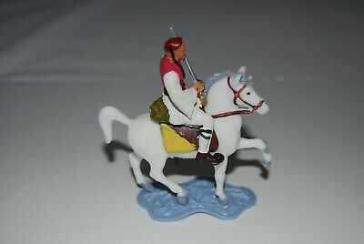 1 X BARGAIN AOHNA GREEK MOUNTED CAVALRY SOLDIER(WHITE HORSE) • 10£