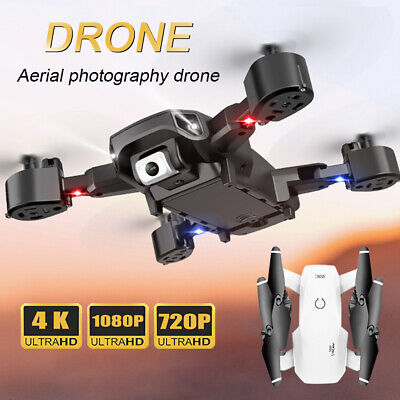 Foldable RC Drone Quadcopter WIFI FPV 2.4G HD 4K Wide-angle Dual Camera Drone UK • 35.49£