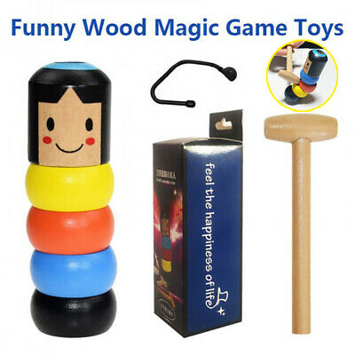 Unbreakable Wooden Magic Toy The Wooden Stubborn Man Toy FUNNY Kid Gifts Tumbler • 3.39£