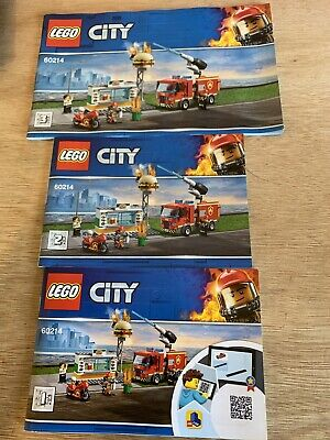 Lego City 60214 Manuals  Only • 3.49£