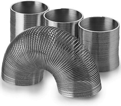 3x Silver Spring Mini Metal Spring Spiral Slinky Coil Fun Stretchy Bouncing Toy  • 10.99£