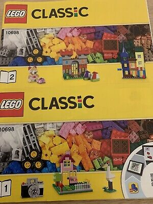 Lego Classic Large Creative Brick Box 10698 INSTRUCTION MANUALS ONLY (2 Books) • 3.79£