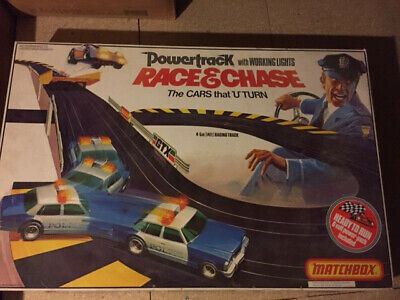 Race And Chase Pt 6000 Matchbox Powertrack Vintage 1970's Slot Car Racing System • 80£