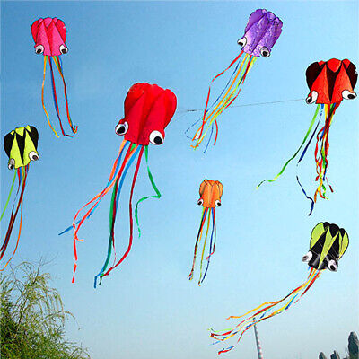 Large Octopus Kite With 30M Line Kids Outdoor Beach Park Holiday Weekend Gift • 3.79£
