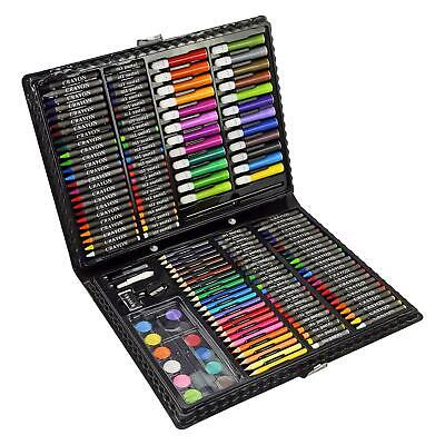 168pc Art Set Childrens Kids Colouring Drawing Painting Arts & Crafts Case • 9.95£