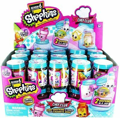 Pack Of 5 X Shopkins Blind Box Season 6 Chef Club, Party Bag / Stocking Fillers • 10.39£