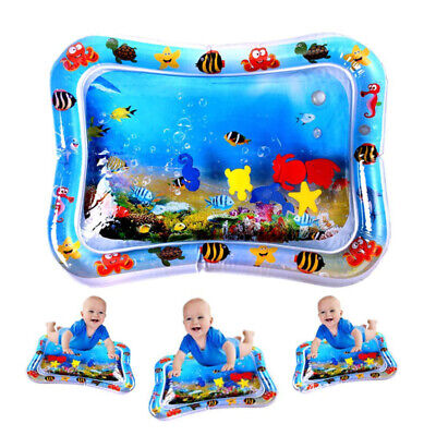 Large Inflatable Baby Water Play Mat Infants Toddlers Kid Perfect Fun Tummy Time • 6.59£