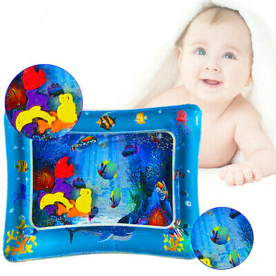 Tummy Time Play Mat Baby Marine Inflatable Water Premium Infants Pad  • 4.29£