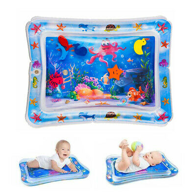 Inflatable Water Playmat  Infants Fun Tummy Time Baby Toddlers Activity Pad • 6.59£