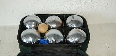 Vintage Metal Petanque Boules Set Of 6 With Original Carry Case Very Heavy VGC • 31£