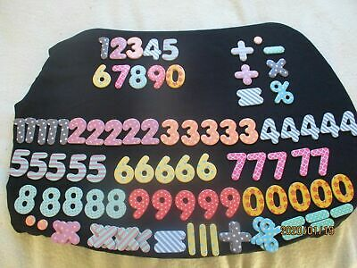 Maths Magnets - 90 MAGNETIC NUMBERS & SYMBOLS Educational Toy BNIB • 7.99£