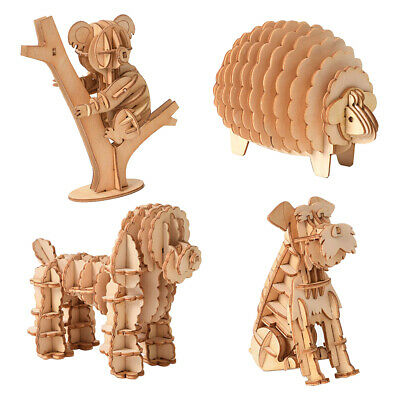 3D Wooden Animal Puzzle Jigsaw Woodcraft Kit Toy Model DIY Construction CI • 5.52£