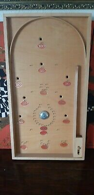 Vintage Wooden Bagatelle Board. Pub Game 22in X 12in • 9.50£