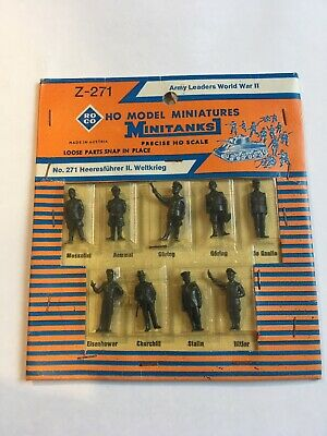 Roco Minitanks World War 2 Army Leaders 1/72 Scale, 9 Figures. • 4£
