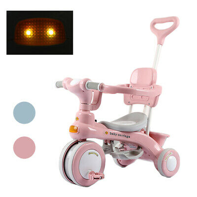 3 In 1 Baby Kids Trike Tricycle Boys Girls Music Lights 3-Wheel Pedal Bike-Gifts • 43.99£