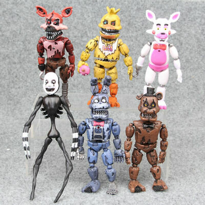 Five Nights At Freddys Nightmare 5  Set Of 6 Action Figures Gift Collectible DIY • 12.99£