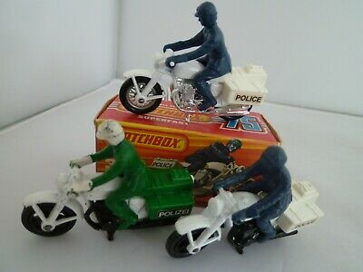 Vintage Matchbox Superfast Honda 750 Police Motor Cycle Lot Of 3: One Mint Boxed • 1.54£