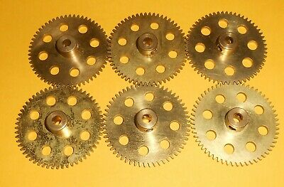 MECCANO BRASS PLATED GEAR WHEELS No's: 27a X 6pcs • 4.69£