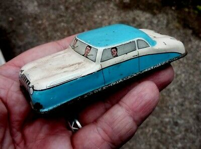 1950s Blue And White Tin Plate Car - Made In England  • 10.50£