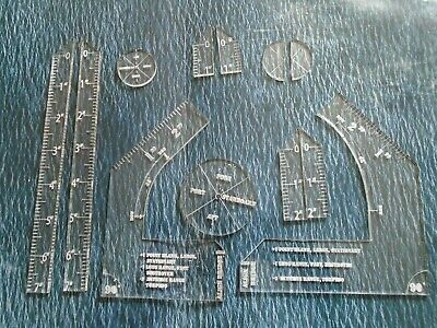 Victory At Sea Clear Acrylic Movement Templates, Angles PREMIUM SET Rulers • 9.25£