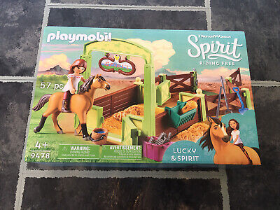 Playmobil  9478 Lucky & Spirit With Horse Stall - Brand New In Box - BNIB • 13.99£