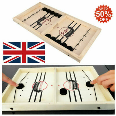 Wooden Hockey Game Table Game Family Fun Game For Kids Children 100% NEW UK • 10.88£