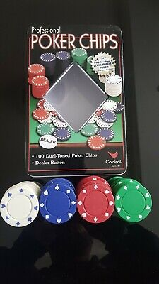 Cardinal Professional Poker Chips 100 Dual Toned Poker Chips • 3£
