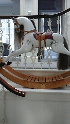 Beautiful Hand Made Large Rocking Horse By D Day Landing Vetran • 1,750£